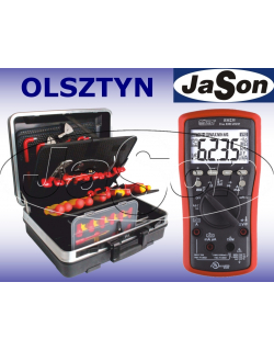 Zestaw narzędzi izolowanych, 1000V, [51 szt.], w walizce, z multimetrem - OPT ZNIW-2