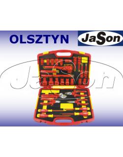 """Zestaw narzędzi [29 szt.] izolowanych 1000V / klucze nasadowe 1/2"""" 10-32mm / w walizce- OPT ZKNI-1"""