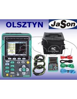 Analizator jakości energii + 4 cęgi elastyczne 1000A - KYORITSU KEW6315-04