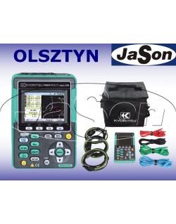 Analizator jakości energii + 3 cęgi elastyczne 1000A - KYORITSU KEW6315-03