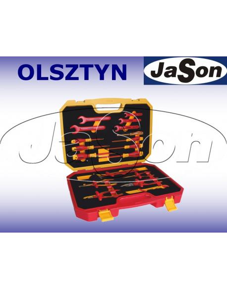 Zestaw narzędzi [18 szt.] izolowanych 1000V FW / wkrętaki, szczypce, klucze, nóż, w walizce - OPT ZNI-4