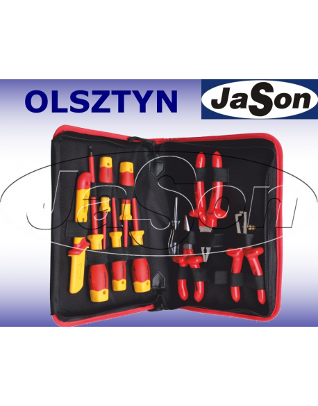 Zestaw narzędzi [10 szt.] izolowanych 1000V FW / wkrętaki, szczypce, w pokrowcu - OPT ZNI-2