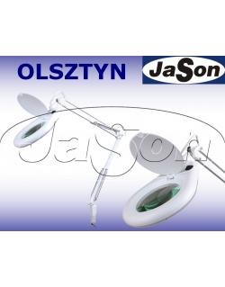 Lampa z lupą Ø127mm 3D oświetlenie LED SMD 9W mocowana do stołu - SOLDERLAB 8066D2LED-A-7C
