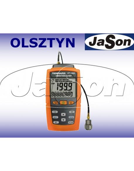 Wibrometr 1-kanałowy - miernik wibracji 10Hz-5kHz/USB - TENMARS TM ST140D