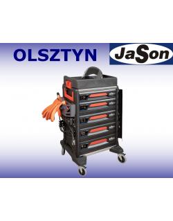 Wózek narzędziowy warsztatowy 5-szufladowy z wyposażeniem 113 narzędzi do samochodów elektrycznych - Wiha eMobility 44423